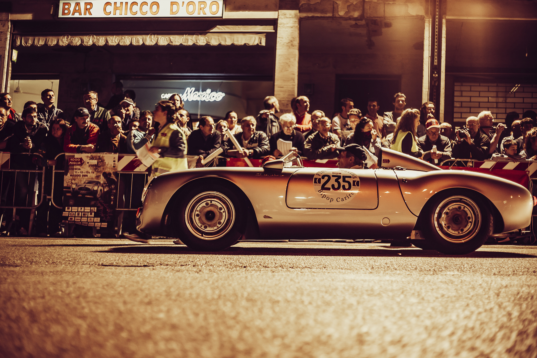 Mille Miglia, Florian Kresse, Autofotografie, csrphotography, Oldtimer, Porsche, Porsche Spyder 550, Vintage car