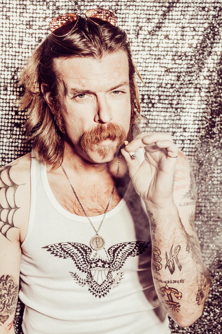 Jesse Hughes, eagles of death metal, Florian Kresse, Photograph, portrait, magazine, Photography, Fotografie, Character,  peoplefotografie, rockstar, Schlachthof Wiesbaden