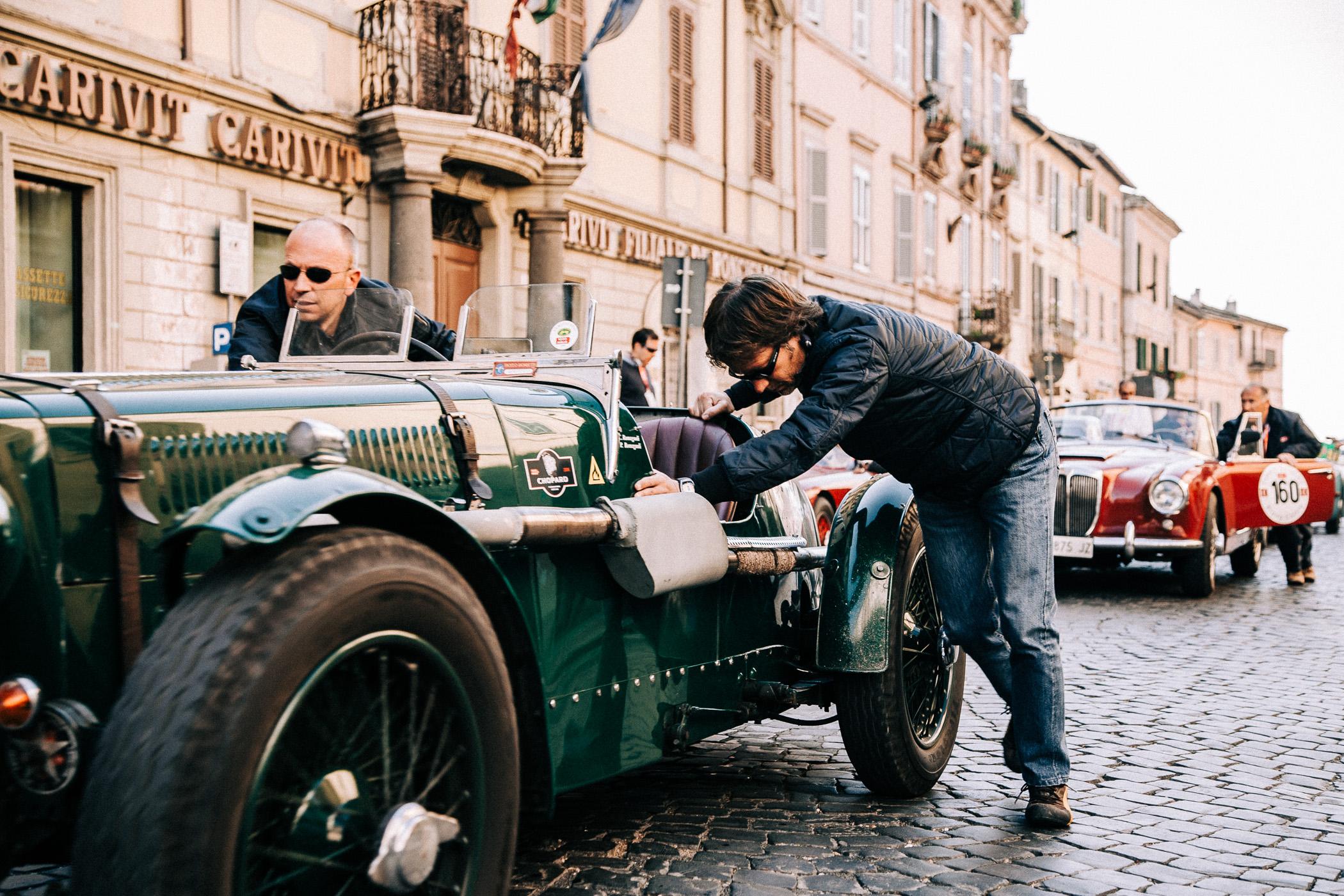Mille Miglia, Florian Kresse, Rennfahrer, Italien, Fiat, Ferrari, Autofotografie, vintage car, Oldtimer