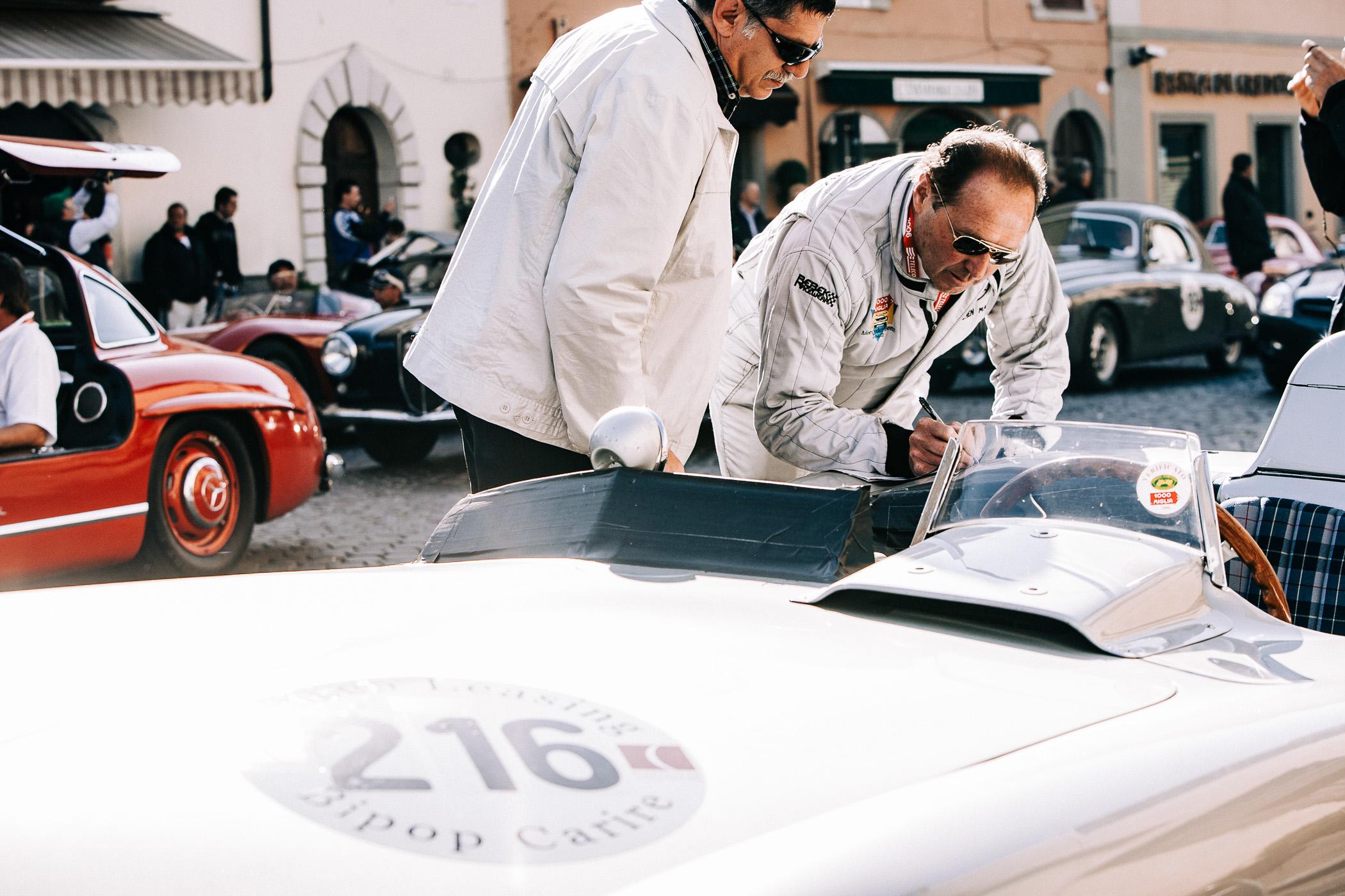 Mille Miglia, Florian Kresse, Jochen Maas, Legend, Rennlegende, Rennfahrer, Mercedes, Silberpfeil, Mercedes-Benz 300SLR