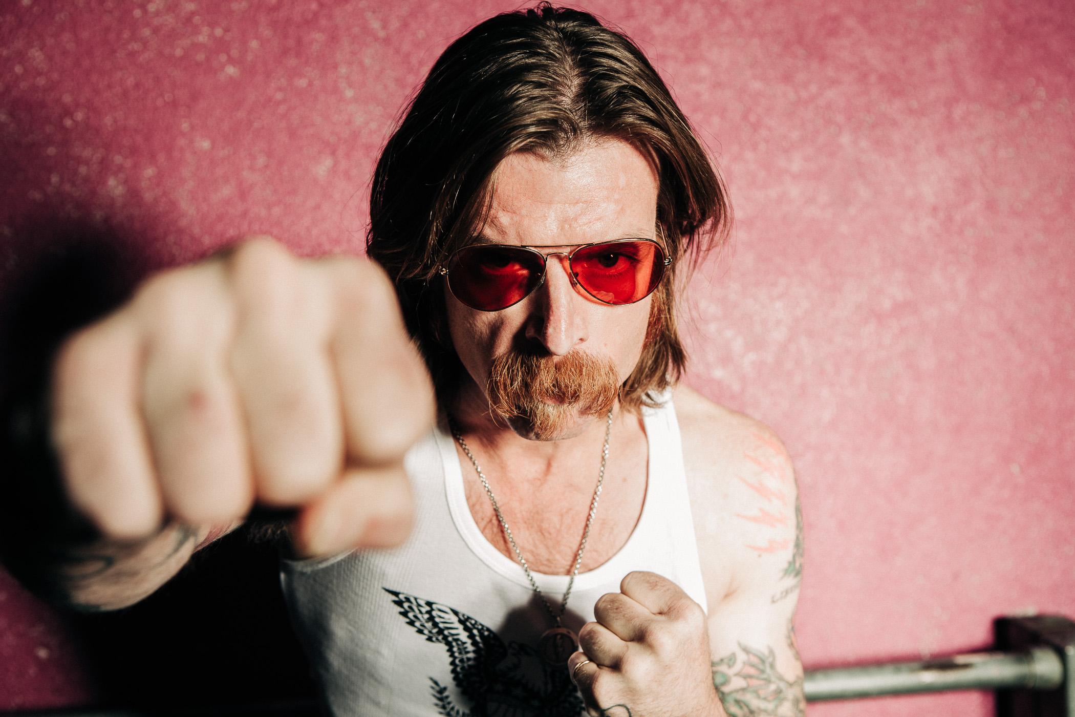 Jesse Hughes, eagles of death metal, Florian Kresse, Photograph, portrait, magazine, peoplefotografie, rockstar, Schlachthof Wiesbaden